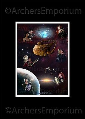 A Long Way From Home Exclusive ART PRINT Poster, A3.  Farscape tribute. Moya,
