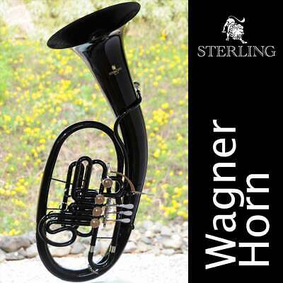 Sterling WAGNER Bb/F HORN • Gloss Gold Finish • With Case • BRAND NEW • Pro