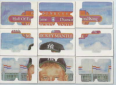 1983 DONRUSS MICKEY MANTLE HALL-OF-FAME DIAMOND KING PUZZLE YANKEES