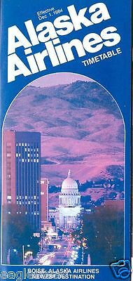 Airline Timetable - Alaska - 01/12/84 - Now to Boise