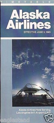 Airline Timetable - Alaska - 03/06/85 - Now serving LAX