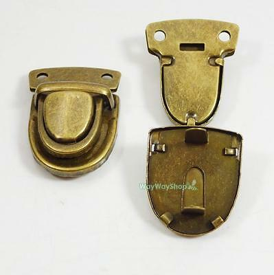 2 5 10 20 pcs Closure Catch Tuck Lock for Leather Bag Case Clasp Purse Bronze