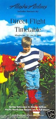 Airline Timetable - Alaska - Horizon Air - 25/04/99 - Spring Child Tulips