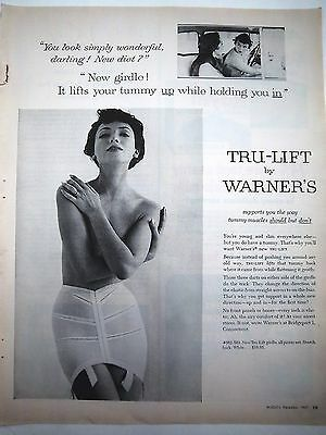 1957 Vintage Womens Warner's Tru-Lift Girdle Lifts Your Tummy Holds You In Ad