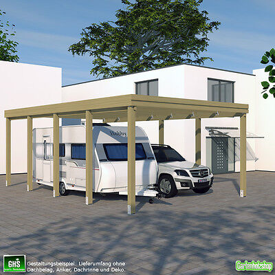 caravan carport 4x9 wohnwagen wohnmobil schneelast bis 200 kg pro qm m glich. Black Bedroom Furniture Sets. Home Design Ideas