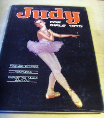 Dc Thomson Judy For Girls 1970 Hb+Dj Vgc
