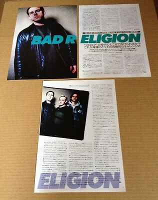 1996 Bad Religion 4pg 2 photo JAPAN mag article / clippings cuttings