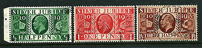 1935 ½d-1½d SILVER JUBILEE TYPE 3 UPRIGHT WMK SUPERB USED