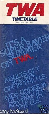 Airline Timetable - TWA - 07/06/79