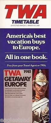 Airline Timetable - TWA - 01/03/81