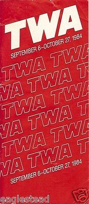 Airline Timetable - TWA - 06/09/84