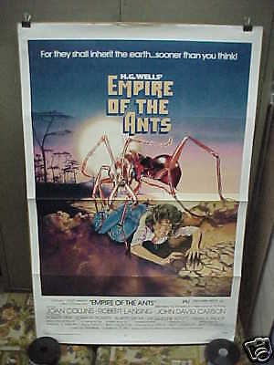 EMPIRE OF THE ANTS, orig tri fold 1-sh / movie poster [Joan Collins]