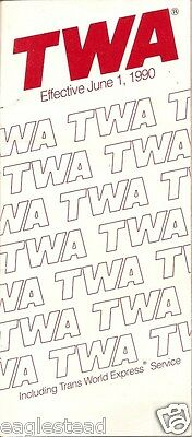 Airline Timetable - TWA - 01/06/90