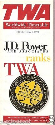 Airline Timetable - TWA - 01/05/94