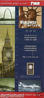 Airline Timetable - TWA - 06/04/97