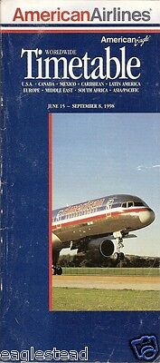 Airline Timetable - American - 15/06/98