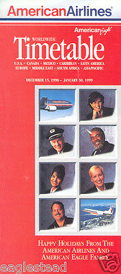 Airline Timetable - American - 15/12/98