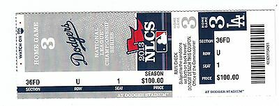 2013 La Dodgers Vs St. Louis Cardinals Playoffs Nlcs Game #5 Ticket Stub