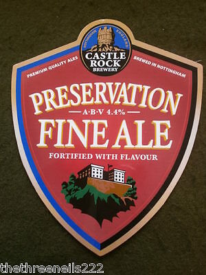 Beer Pump Clip - Castle Rock Preservation Fine Ale