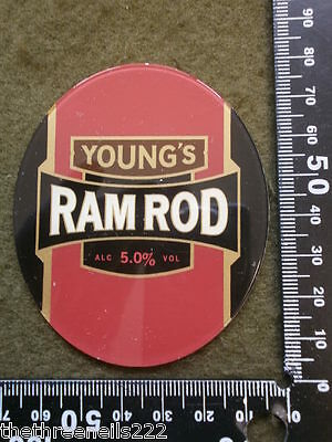 Perspex Beer Pump Clip - Young Ram Rod