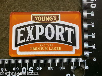 Perspex Beer Pump Clip - Young's Export Premium Lager