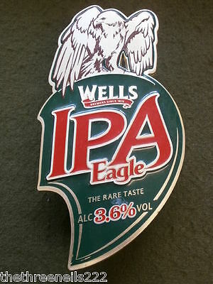 Beer Pump Clip - Wells Ipa Eagle (With Clamp Fitting)