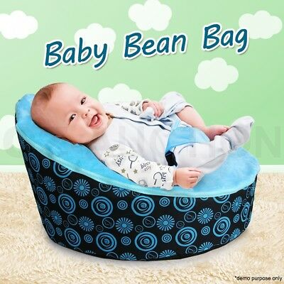 Blue Baby Toddler Bean Bag Kids Seat Pod Portable Resting Feeding Chair New