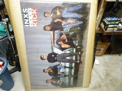 Inxs Group Photo Car 1987 Vintage Poster  Never Hung Light Edge Wear