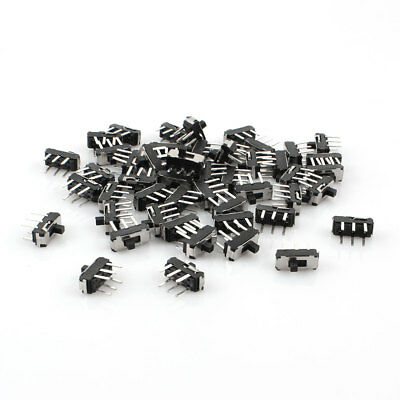 50 Pcs On/Off/On DPDT 2P2T 6 Pin Vertical Mini DIP Slide Switch 9x4x3.5mm