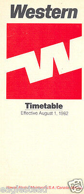 Airline Timetable - Western - 01/08/82