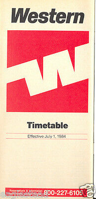 Airline Timetable - Western - 01/07/84