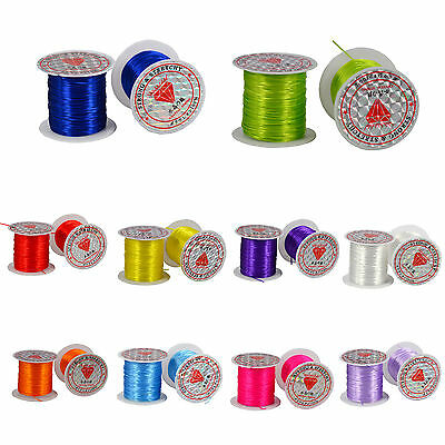 16.5M Strong Stretchy Elastic String Assorted Crystal Beading Cord Line 7 colors