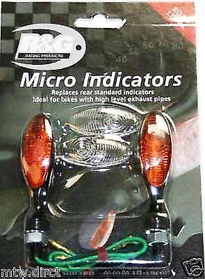R&G RACING MICRO INDICATORS ONE PAIR - BLACK BODY for YAMAHA R6 2001