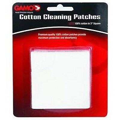CLEANING COTTON PATCHES Gamo Pezzuole cotone pulizia carabina pistola 5,5 mm CO2
