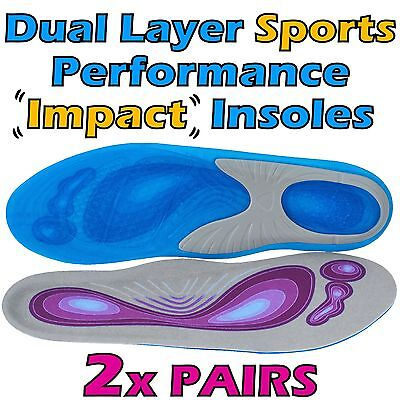 Premium GEL Orthotic Support INSOLES - Heel Arch Foot Blisters Sport Pad Cushion
