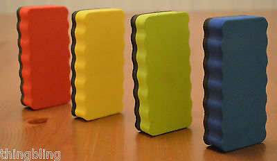 Pack of 3 Magnetic Board Erasers - Choose Red, Green, Blue, Yellow or mixed