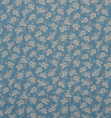 Tenugui Towel Cotton Gauze Cloth Japanese Fabric 'Blue Morning Glories'