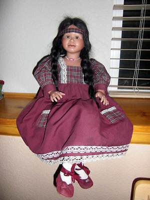 """Berdine Creedy 29"""" One of a Kind Indian Girl Signed LE #4/5"""