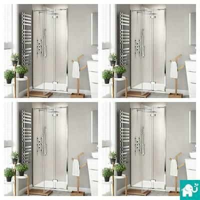 Luxury Easy Clean Hinged Shower Enclosure Frameless Bathroom Glass Door + Tray