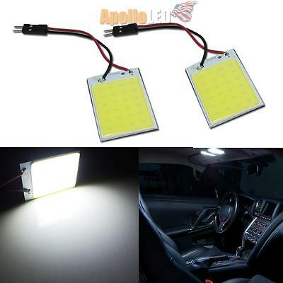 2pcs HID White 41mm 6411 C5W LED Panel Replacement Trunk Dome Map Lights #27