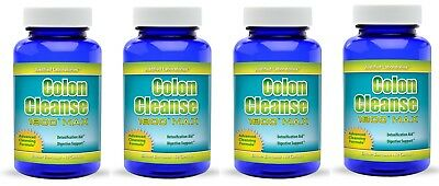 Super Colon 1800 Maximum Body Cleanse Cleansing Detox Weight Loss Pills 4 Pack