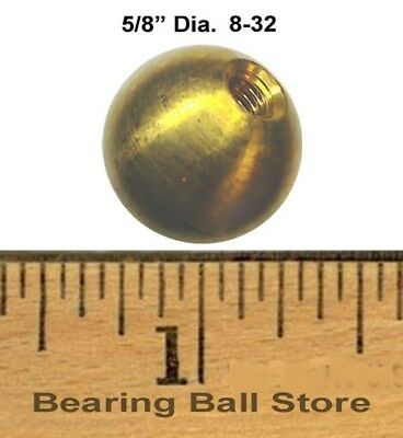 "49 5/8""  dia.  threaded 8-32 brass balls drilled tapped"