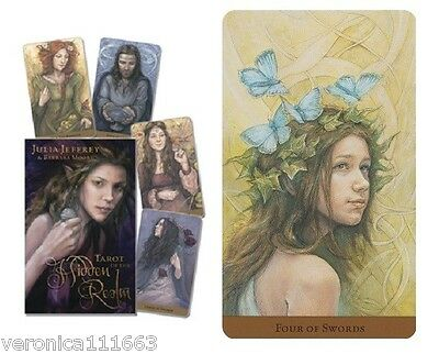 Tarot of the Hidden Realm New Sealed Set 78 Color Cards 240pg Book Jeffery Moore