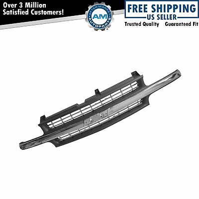 Chrome & Black Front Trim Grille Grill for Chevy Silverado 1500 2500 3500 Pickup
