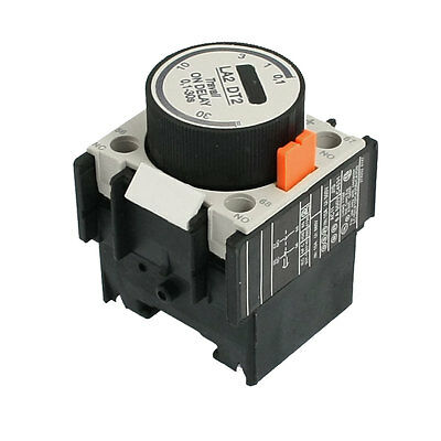 LA2 DT2 660V 10A 1NO 1NC Time ON Delay Relay Auxiliary Contact Block 0.1-30s
