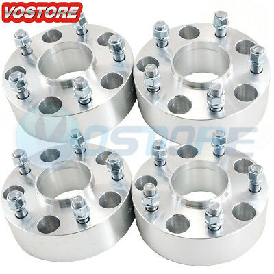 """(4) 2"""" Hubcentric Wheel Spacers 5x5.5 Adapters 9/16 Studs For Dodge Ram 1500"""