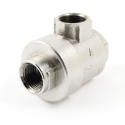 Pneumatic 2 Way 11.7mm Outlet Air Quick Exhaust Valve Silver Tone