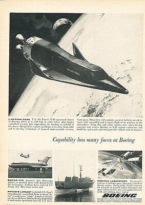 1963 Boeing Spacecraft X-20 Air Force -  Original Advertisement Print Ad J147