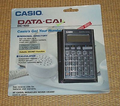 Casio Data-Cal | *NEW* DC-100 Vintage Calculator Memory Phone #/Credit Cards WOW