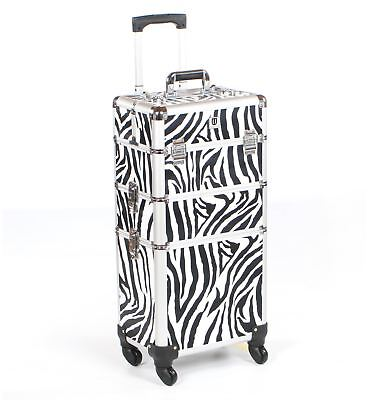 Cosmetic makeup nail hairdressing beauty vanity hair trolley case box storage ze